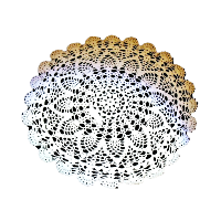 White Cotton Crochet Round Doilies