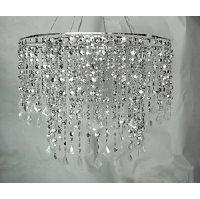 Silver Diamond Hanging Chandelier