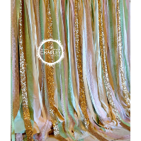 Pink, Mint & Gold Accent Backdrop Rental