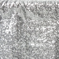 Silver Sequin Curtains