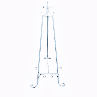 Short Floor - White Easel Stands