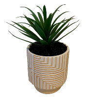 Faux Tropical Plant - Terracotta Base - Small