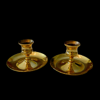 Brass Candlesticks #318