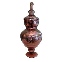 Pink/Brown Mercury Glass Jar #1 with Lid