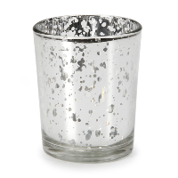Silver Mercury Glass Votive Holders