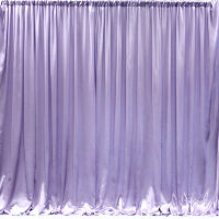 Lavender Satin - Classic Gathered Backdrop Curtain Service