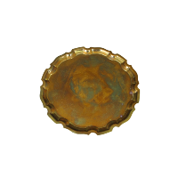 Vintage Gold Coloured Circle Tray