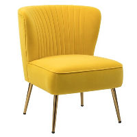Yellow Chairs with Gold Legs