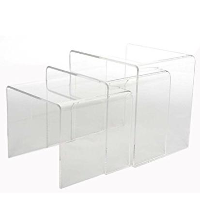 Clear Acrylic  - 3 Nesting Table Set