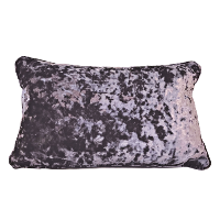 Purple Crushed Velvet Accent Pillows