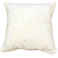 Cream Snowmen Pillows
