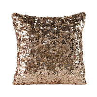 Square Blush Sequin Pillow