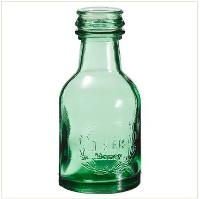 Petite Green Glass Bottles