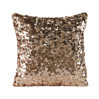 Square Blush Sequin Pillow