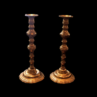 October Brass Candlesticks