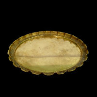 Brass Pie Crust Serving Tray #710