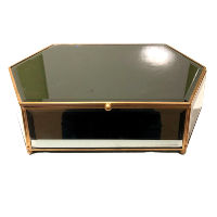Tinted Mirror and Gold Trim Box