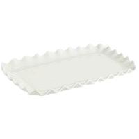 White Ruffled Serving Platters
