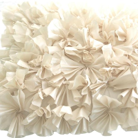 Cream Ruffled Pillow