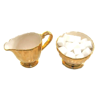 Golden Cream and Sugar Set