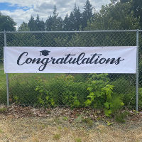 Congratulations Vinyl Banner - Grad