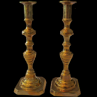 Brass Candlesticks #414