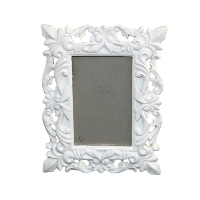 White Scroll Photo Frames
