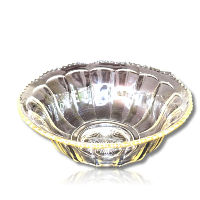 Gold Tinged Vintage Punch Bowl