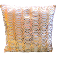 Pink & Gold Art Deco Pillow
