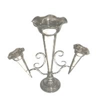 3 Horn Silver Vase