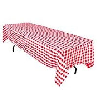 Red Checkered Rectangle Tablecloths