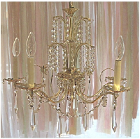 Golden Girl 5 Light Vintage Chandelier