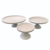 Simple White Cake Stands - 5 Sizes