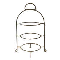 Wrought Iron 3 Tier Plate Stand