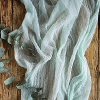 Mint Cheesecloth Table Runners 16'