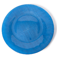 The Head Table Collection: Bright Blue Glass Charger Plates