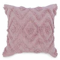 Pink Diamond Motif Tufted Pillows