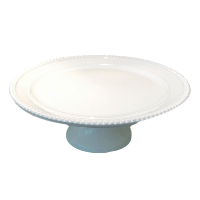 White Beaded Dessert Stand