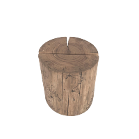 Wood Tabletop Pillar - Size 2. With slot
