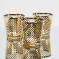 Gold Lattice Votive Holders