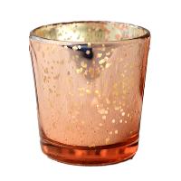 Rose Gold Mercury Glass Tealight Holders