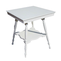 2 Tier Small White Table