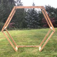 Geometric Wood Arch