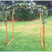 Curved Top Wood Arch