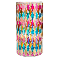 Large Stained Glass Candle Holders