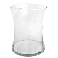 Clear Hourglass Vases