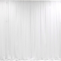White Sheer Organza - Classic Gathered Backdrop Curtain Service