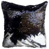 Black/silver Sequin Pillows
