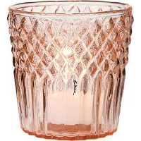 Pink Diamond Top Tea Light Holders