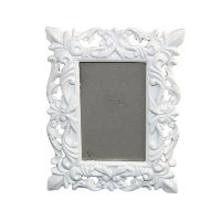 White Scroll Photo Frames